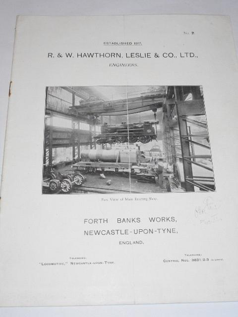 R. a W. Hawthorn, Leslie a Co., Ltd., Engineers - Brief Description of the Locomotive Works and Products - prospekt