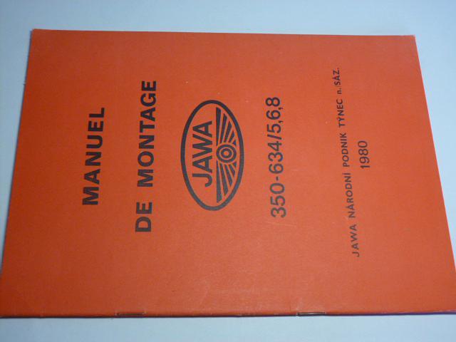 JAWA - Manuel de montage 350-634/5,6,8 - 1980