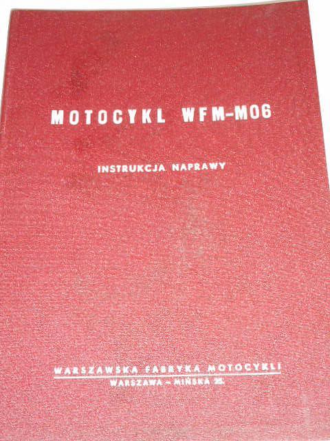 Motocykl WFM-M06 - instrukcja naprawy - 1959