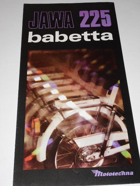 JAWA 225 Babetta - Mototechna - 1987 - prospekt