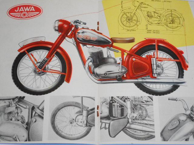 JAWA 250 - pérák - Motokov - 1952 - prospekt