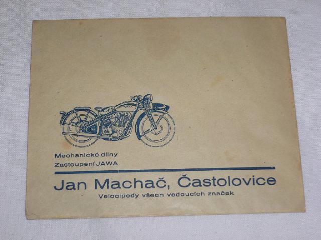 Jan Machač - Častolovice - zástupce Jawa - obálka