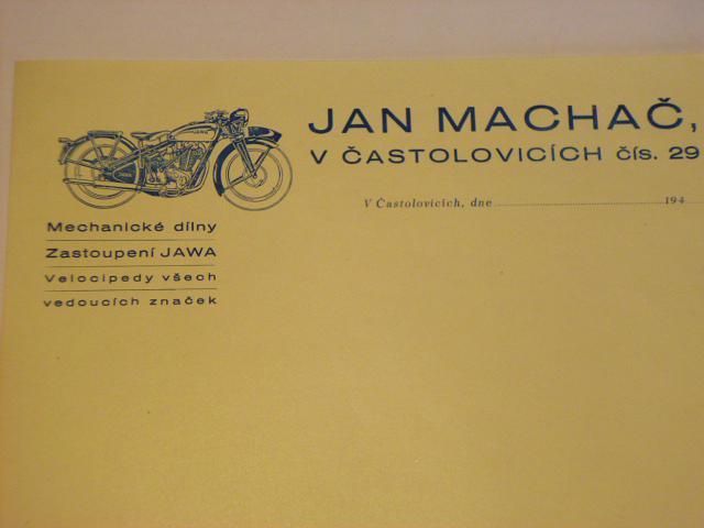 Jan Machač - Častolovice - zástupce Jawa