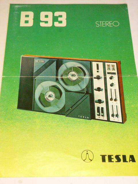 Tesla - magnetofon B 93 stereo - prospekt