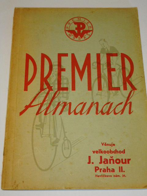 Premier Almanach - 1937 - jízdní kola, motokola Sachs 98 ccm, historie firmy
