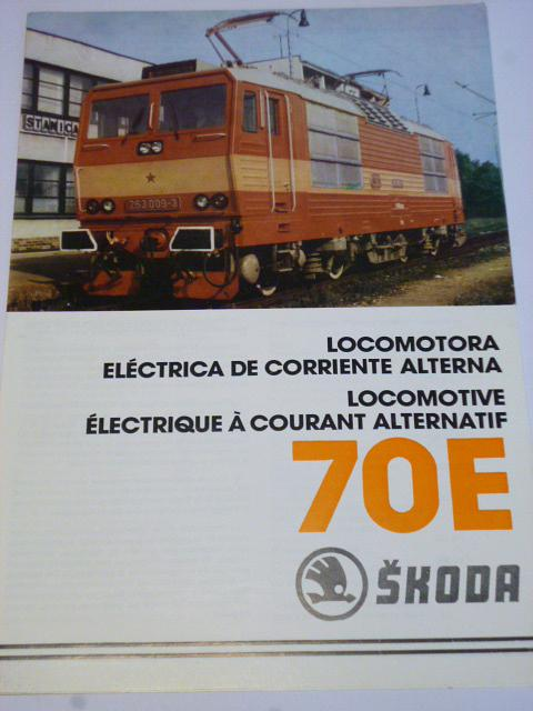 Škoda Plzeň - 70 E - elektrická lokomotiva - prospekt
