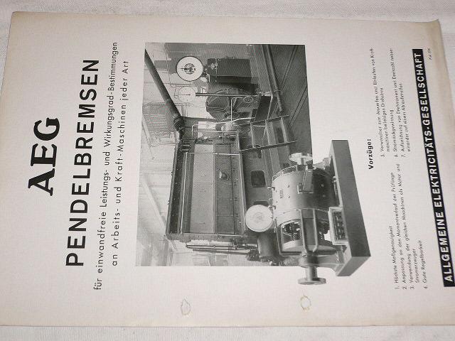 AEG - Pendelbremsen -1936 - prospekt