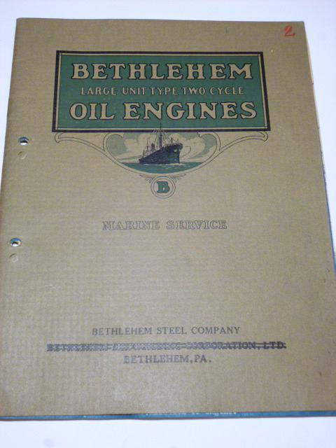 Bethlehem Large-unit type two cycle Oil Engines - prospekt