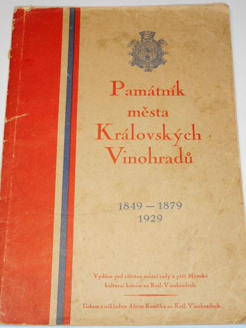 Památník města Královských Vinohradů - František Pavlík - 1929