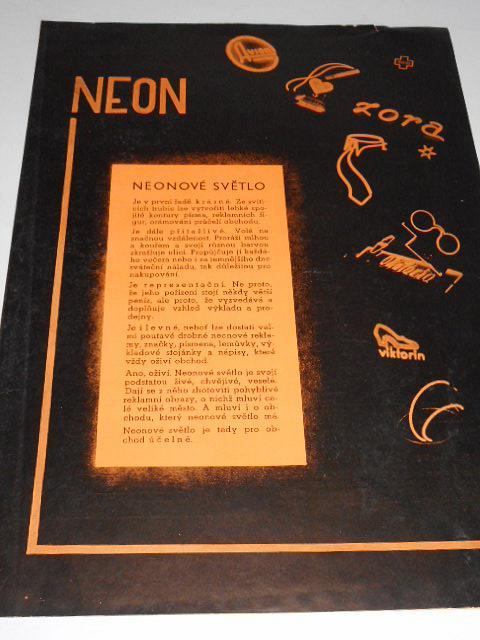 Neon - neonové světlo - prospekt