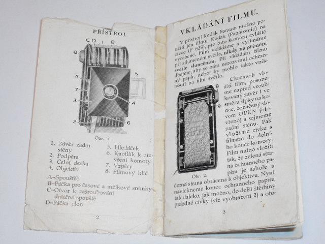 Kodak Bantam - návod k přístroji