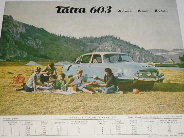 Tatra 603 - 4 dvéře 6 míst 8 válců - 1960 - prospekt