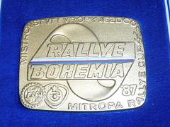Rallye Bohemia 1987 - Mistrovství Evropy jezdců - Škoda - plaketa v etui