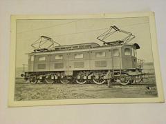 Škoda - elektrická rychlíková lokomotiva - pohlednice