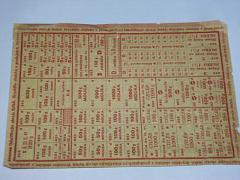 Lístek na potraviny pro zaměstnané 6/1953