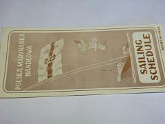 Sailing Schedule - Polsko - 1951