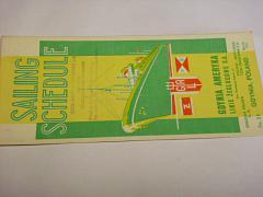 Sailing Schedule - Polsko - 1949