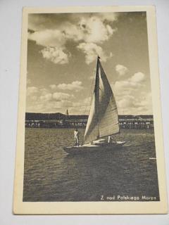 Z nad Polskiego Morza - pohlednice - plachetnice