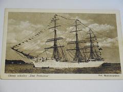 Okret szkolny Dar Pomorza - pohlednice