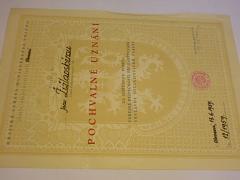 Pochvalné uznání - Pomocná stráž VB - 1959
