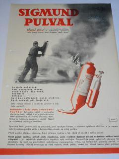 Sigmund Pumpy Olomouc-Lutín - Sigmund Pulval - hasicí přístroj - prospekt