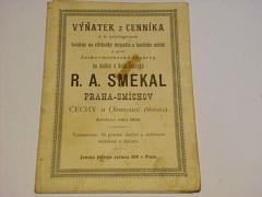 R. A. Smekal - hasičské stříkačky a náčiní - prospekt - 1891