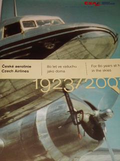 České aerolinie - 80 let ve vzduchu jako doma - 1923 - 2003