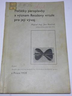 Počátky paroplavby a význam Resslovy vrtule pro její vývoj - 1938 - Vaněček