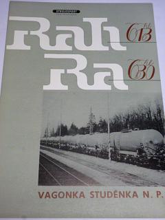 Vagónka Studénka - čtyřnápravové kotlové vozy Ra 630,Rah 613 - prospekt - Strojexport, Tatra