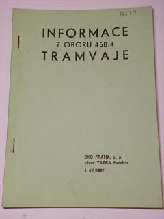 Informace z oboru 458.4 tramvaje - 4,5/1987