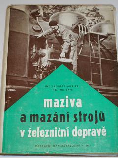 Maziva a mazání strojů v železniční dopravě - Kaválek, Šafr