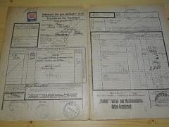 Premier - kočárek - nákladní list pro nákladní zboží - ČSD