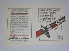 PAL - Super - 1984 - 1985 - zapalovací svíčky