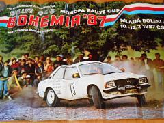 Ralye Bohemia - Mistrovství Evropy 10.-12. 7. 1987 - plakát