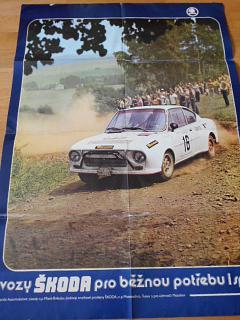 Škoda 130 RS - plakát