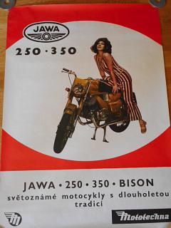 JAWA 250, 350 Bison - Bizon - plakát - Mototechna