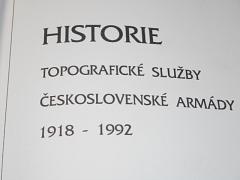 Historie topografické služby Československé armády 1918-1992