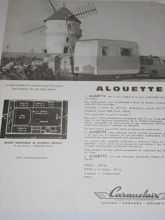 Caravelair Alouette - Simca - obytný přívěs - prospekt