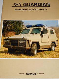 ASA Guardian Armoured Security Vehicle - prospekt - 1982