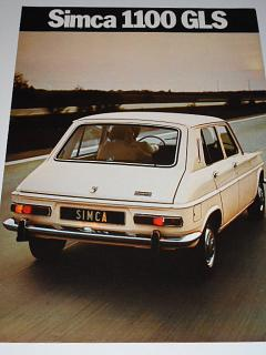 Simca 1100 GLS - 1972 - prospekt