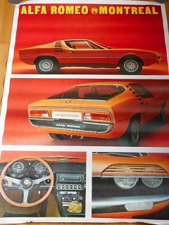 Alfa Romeo Montreal - plakát