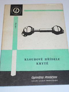 Kloubové hřídele kryté - popis, obsluha, seznam dílů - Agrostroj Prostějov - 1972