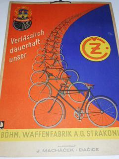 ČZ - Verlässlich dauerhaft unser - jízdní kala - papírová reklama