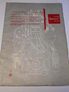 Zetor 4701, 6701 - katalog náhradních dílů pro motory - 1972