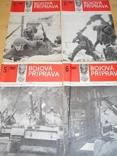 Bojová příprava - vševojskový časopis ČSLA - 1987, 1988, 1989