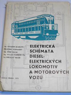 Elektrická schémata dieselelektrických lokomotiv a motorových vozů - 1970