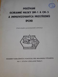 Používání ochranné masky DM-1 a CM-3 a improvizovaných prostředků IPCHO (individuální protichemické ochrany)