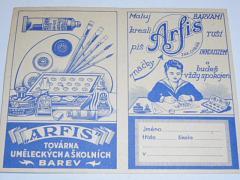 Arfis - továrna uměleckých a školních barev - rozvrh hodin