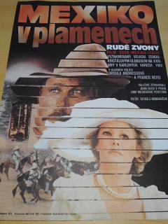 Mexiko v plamenech - Rudé zvony - 1983 - filmový plakát