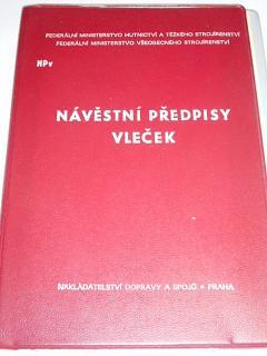 Návěstní předpisy vleček - NPv - Federální ministerstvo hutnictví a těžkého strojírenství - 1976